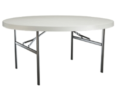 Where to rent TABLE - 5 FT ROUND LIGHT WGT. in Old Town ME